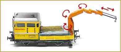 le tracteur du service voie BLS avec grue mobile
